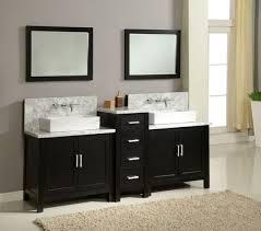 Bathroom Vanity Two Sinks Legion 60 Inch Double Sink Rustic Bathroom Vanity Black Marble Top