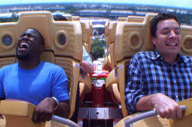 1000 Ideas About Kevin Hart - hart totally loses it when jimmy fallon makes him ride a roller coaster