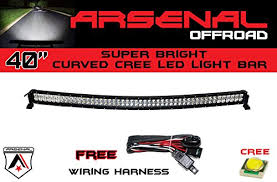 curved marine led light bar 1 40 inch curved 240w cree led light bar by arsenal offroad tm spot