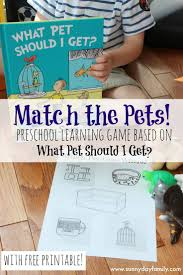 match the pets preschool learning game based on what pet should i