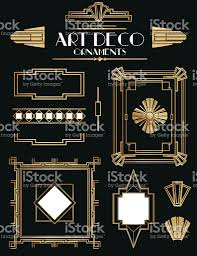 deco frames and ornament set stock vector 501602513 istock