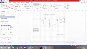 cara menggambar rangkaian dengan menggunakan microsoft visio