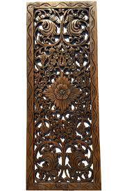 large wood wall hanging asian home decor floral wood carved wall panel wall asiana