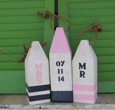 ooak nautical buoy set nautical wedding decor beach anniversary
