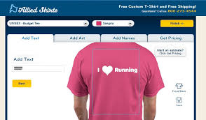 design a shirt program make share and wear with allied shirts words to run by