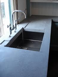 Kitchen Faucet Hole Size Countertops Modern Single Bowl Concrete Sink And Concrete