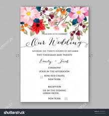 Sample Invitation Card For Christmas Party Poinsettia Wedding Invitation Sample Card Beautiful Winter Floral