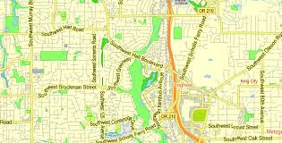 Washington Ferry Map Portland Or Vancouver Wa Printable Map Exact Vector Street G