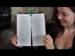 Diy Wedding Programs How To Design Wedding Programs Diy Wedding Invitations Youtube