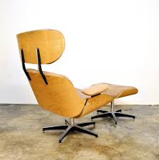 Eames Leather Lounge Chair Select Modern Plycraft Eames Style Leather Lounge Chair U0026 Ottoman