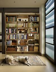 Classic Bookshelves - classic seattle lakefront house gets a bookish modern twist