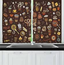 Coffee Themed Curtains Kitchen Curtains Coffee Theme Design Ideas Coffee Themed Kitchen