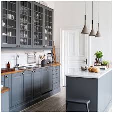 blue kitchen cabinets grey walls 6 gray shades for a kitchen that are surprising big chill
