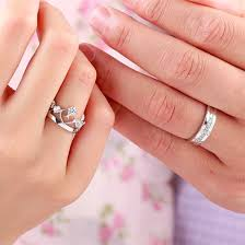 couple rings set images Crown and cross couple rings set buy couple rings online at kacyworld jpg
