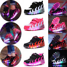 heelys light up shoes led heelys wheels boys girls shoes skates kids light up roller skate