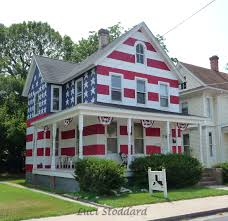 Painted Houses American Flag Houses