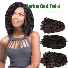 twisted hair for chrochet fluffy afro spring twist braids short hair extensions spring