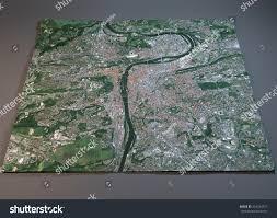 Satellite View Maps Prague Map Satellite View Section 3d Stock Illustration 334244729