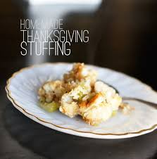 Homemade Thanksgiving Stuffing Recipe The Best Homemade Thanksgiving Stuffing Butter With A Side Of