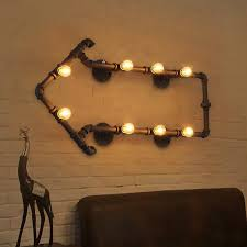 Kitchen Wall Lighting Fixtures by 2017 Loft Vintage Water Pipe Wall Lamps Industrial Bedside Wall