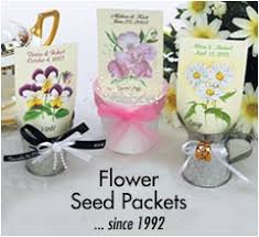 Flower Favors by Flower Seed Packets Wedding Favors Wedding Corners
