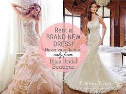 wedding dress rental houston tx bliss bridal boutique rent a brand wedding dress in
