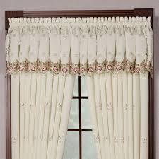 bella rose embroidered curtains and valance