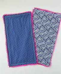 pom pom burp cloth tutorial