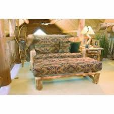 Western Living Room Furniture Rustic Log Loveseat With Ottoman Country Western Living Room