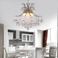 Modern Crystal Chandeliers For Dining Room by Modern Contemporary Crystal Chandelier With Lights Pendant Ceiling