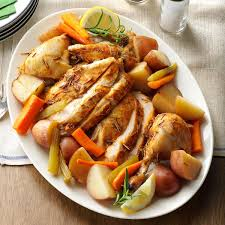slow roasted chicken with vegetables recipe taste of home