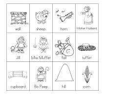 kindergarten rhyming words worksheets koogra