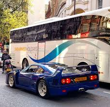 f40 bhp the only f40 in aqua blue spotted bhp cars performance
