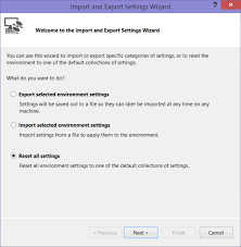 visual studio reset application settings donovan brown how to change your default language in visual studio