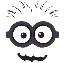 minions black and white clipart 52