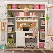 cool and stylish desk in closet