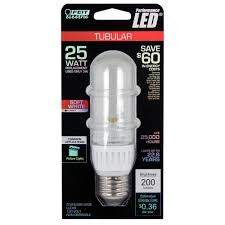 feit bpt10 led led non dimmable t10 clear tubular 25w equivalent
