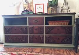 restyle dresser using general finishes milk paint color basil