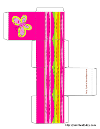 5 best images of printable butterfly box templates printable