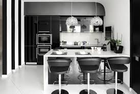 stylish kitchen black u0026 white kitchens a timeless contrast for your home see
