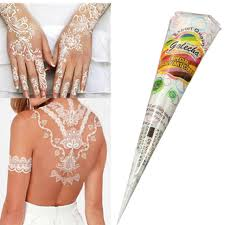 natural herbal temporary tattoo kit white henna cones body art