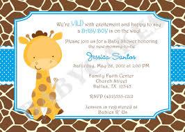 giraffe themed baby shower enchanting giraffe baby shower invitations as printable baby