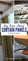 2 5 Inch Curtain Rings by Easy Diy Two Story Curtain Panels In Only 5 Steps U2022 Our Home Made