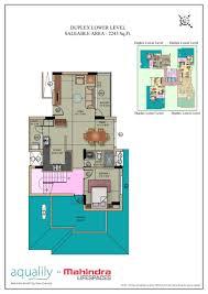 Duplex Home Floor Plans by Floor Plan Mahindra Aqualily Chennai Mahindra Lifespaces