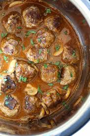 turkey and mushroom gravy recipe salisbury steak meatballs instant pot stove top slow cooker