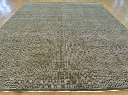 Modern Tibetan Rugs by 9 U0027 X 12 U0027 Modern Geometric Design Handmade Wool And Silk Oriental