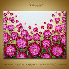 Pink Peonies Bedroom - original pink peonies contemporary painting 12x16 inches arts