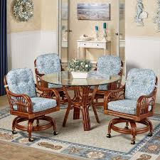 dining table with caster chairs gorgeous dining table with caster chairs room furniture dinette