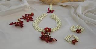 deck up for pre wedding events with floral jewellery women