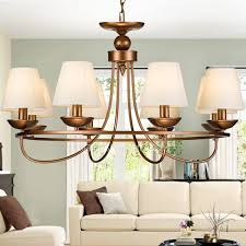 Chandeliers For Living Room Rustic Chandeliers 8 Light Twig Fabric Shade For Living Room